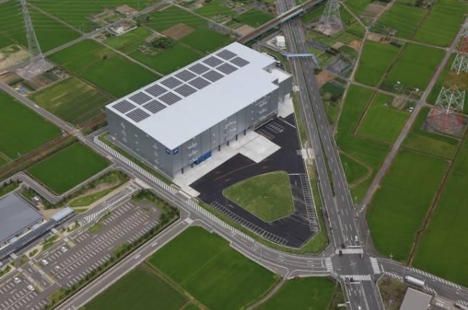 上空から見たメドライン・ロジスティクス・ジャパン愛西物流センター(愛知県愛西市)