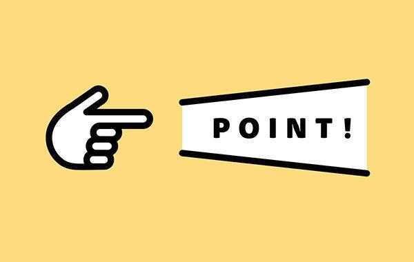 ポイント(POINT)と記載された図